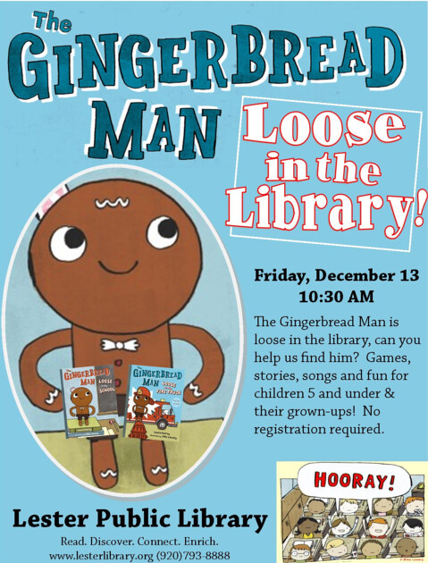 Gingerbread Man Loose in the Library