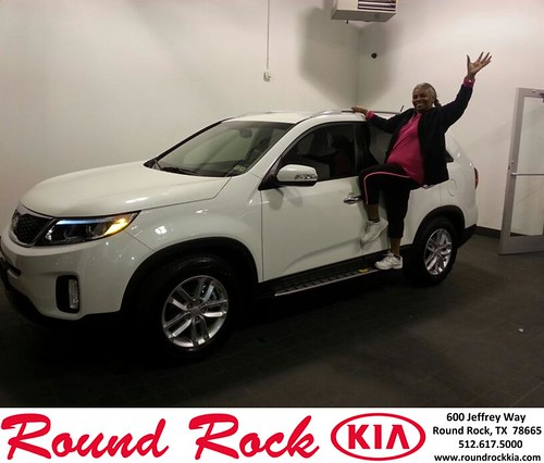 Thank you to Janice Anderson on your new 2015 #Kia #Sorento from Fidel Martinez and everyone at Round Rock Kia! #NewCarSmell by RoundRockKia