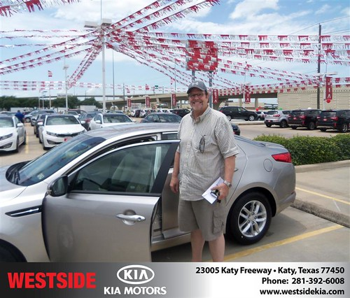 Westside Kia would like to say Congratulations to Christopher Reeves on the 2013 Kia Optima from Rubel Chowdhury by Westside KIA