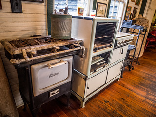 Antique Stoves at Lone Star BBQ