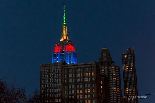 Empire State Building - Nelson Mandela by Joel Raskin
