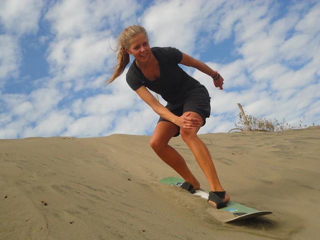 Sandboarder in Ilocos