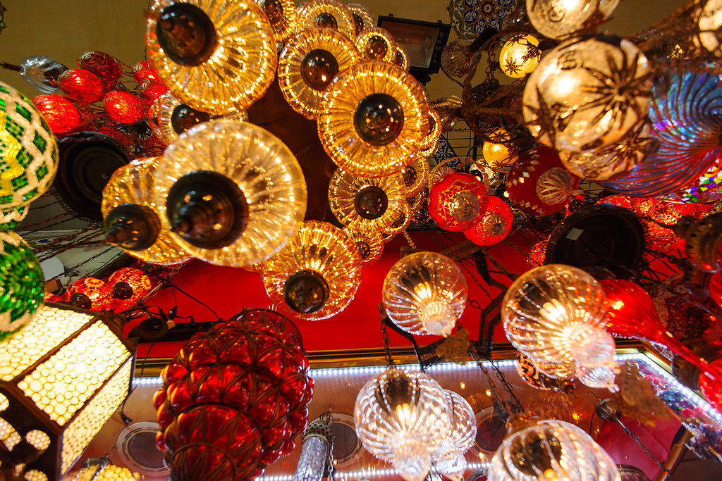Lamp merchant at the Grand Bazaar, Istanbul.