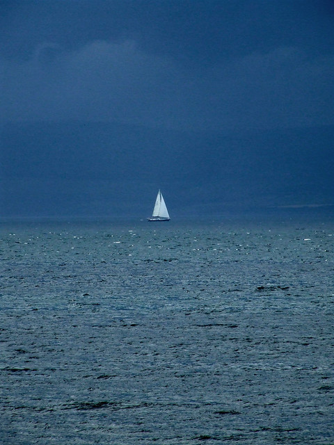 sailboat before a storm