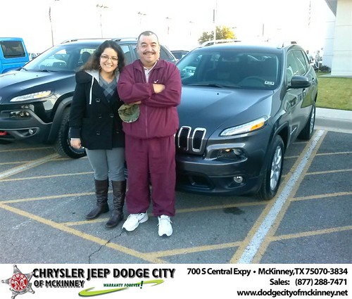 Thank you to Luisa Aguilar on your new 2014 #Jeep #Cherokee from David Walls and everyone at Dodge City of McKinney! #NewCarSmell by Dodge City McKinney Texas