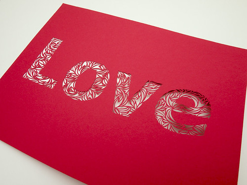 Love- Paper Cut Typography-4