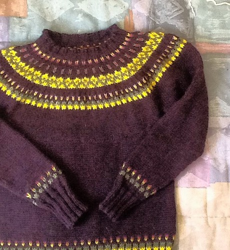 Simple stranded sweater