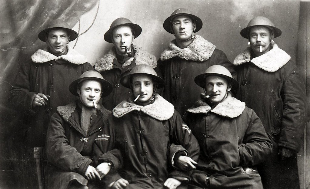 Seven soldiers in group