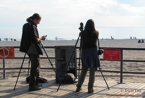 Photographers at Coney Island Beach