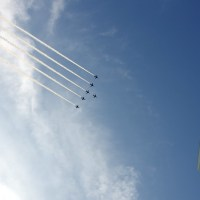 【Photo】ブルーインパルス、東京上空を舞う!【渋谷ヒカリエ】