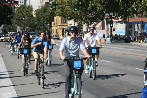 Bay Area Bike Share launch in San Jose CA