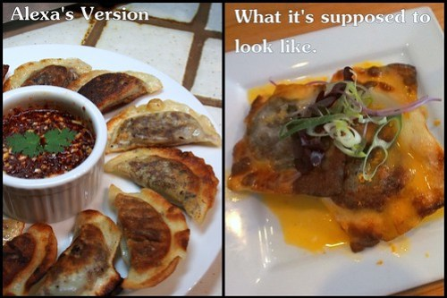2 versions of Matt Basile's Beef Cheek Bulgogi Ravioli