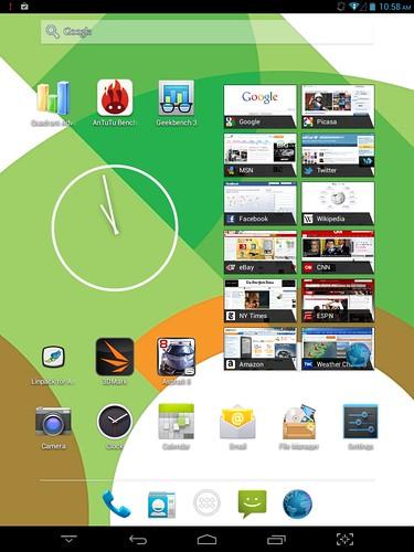Home screen ของ Mondo Motion 7801Q