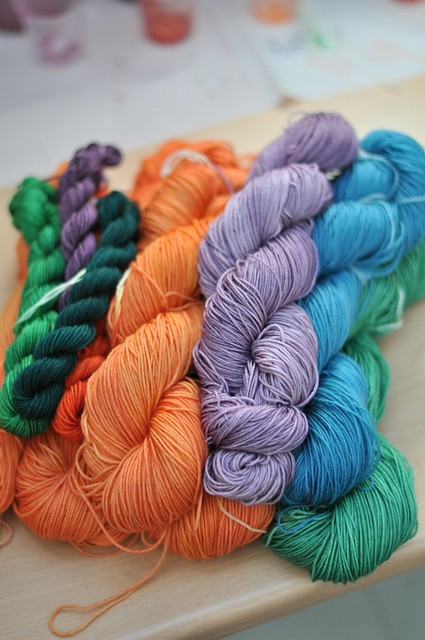 Sarah's sample skeins
