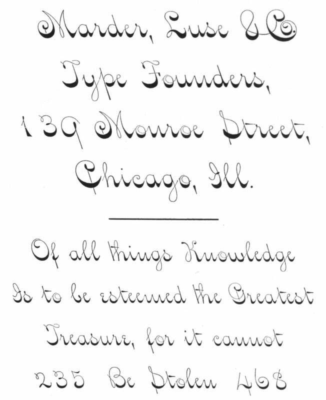 Spinner Script, Marder Luse 1884