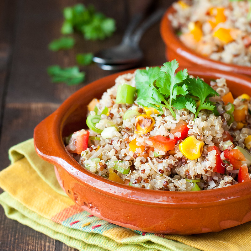 Southwest quinoa salad with lime vinaigrette--a quick, fresh, one-dish dinner