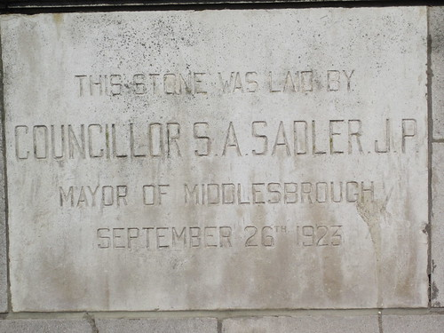 Samuel Sadler,  Park Presbyterian Church 1923, Middlesbrough