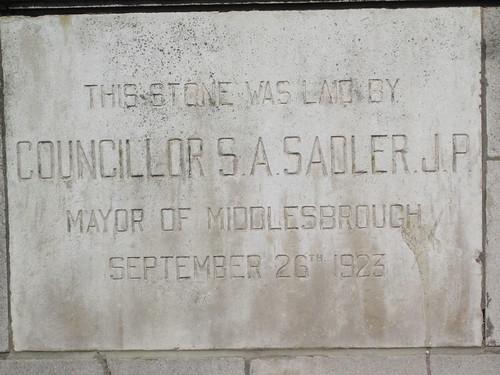 Samuel Sadler,  Park Presbyterian Church 1923, Middlesbrough