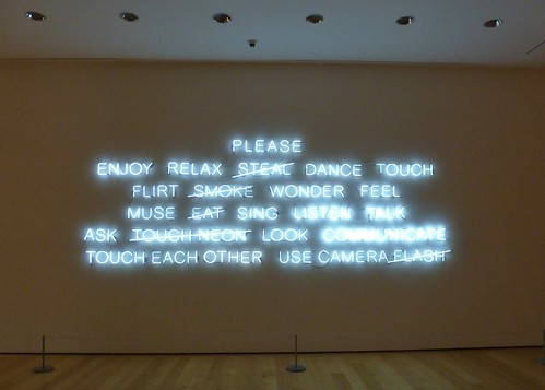 "Jeppe Hein's ""Please..."""