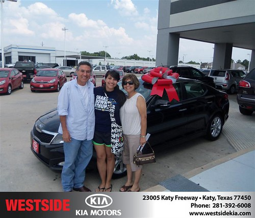 Thank you to Gilbert Garcia on the 2013 Kia Optima from Orlando Baez and everyone at Westside Kia! by Westside KIA