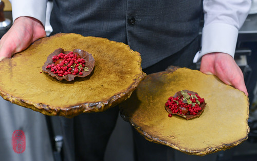 9th Course: Chocolate-Cherry Tart