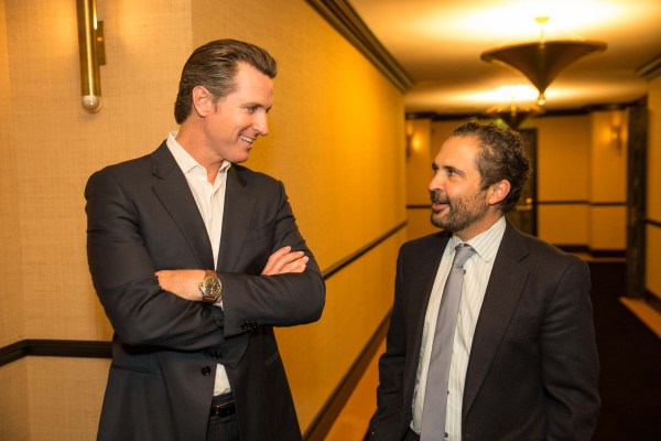 Gavin Newsom, James Joaquin