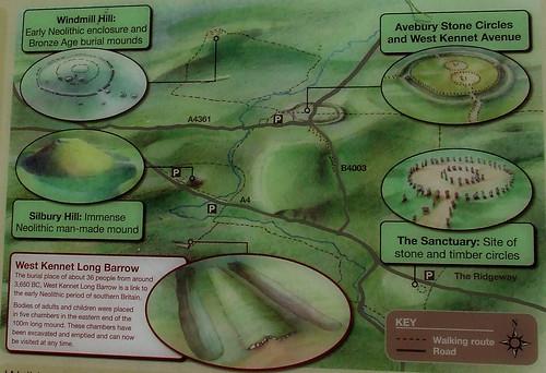 Avebury sites map