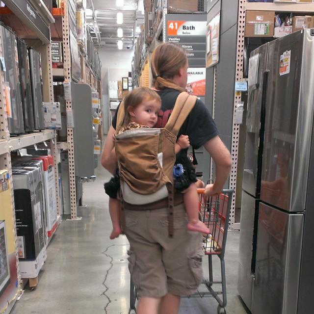 Super dad at Home Depot! :-)