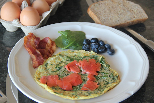 Smoked Salmon and Spinach Omelette