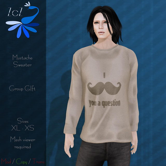 ZcZ Mustache Group Gift Sweater (Guys)