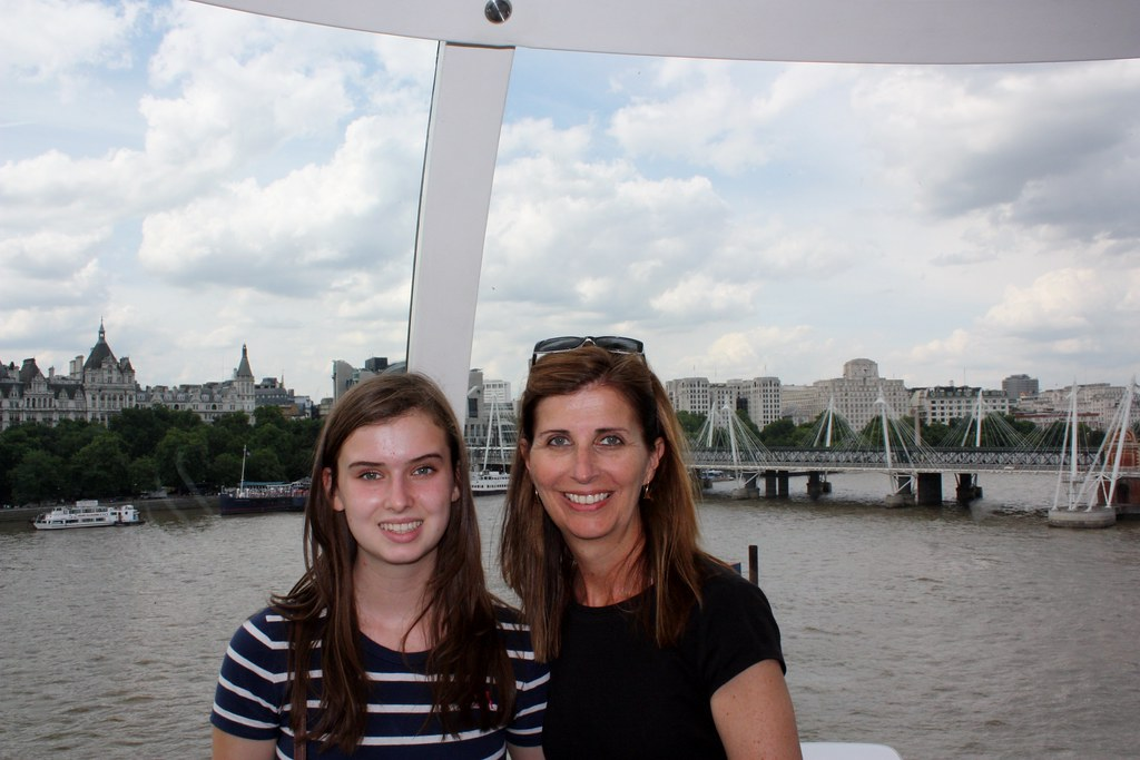 Logan and Patti on the London Eye