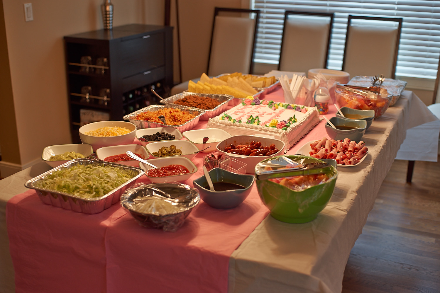 Shush! Everyone who knew me knows what I came for.. the food :) let the celebration begin!