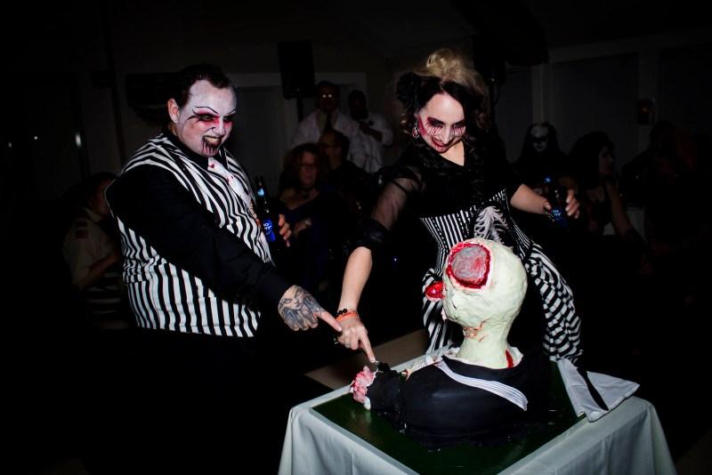 Rachel & Pete's Halloween Zombie Wedding
