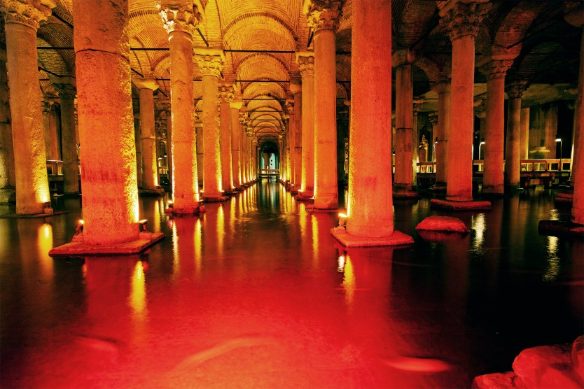 Inside the Basilica Cisterns.