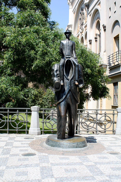 Franz Kafka Monument, Prague.