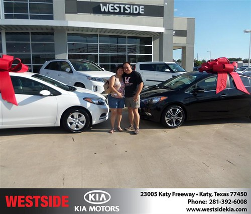 Westside Kia would like to say Congratulations to Maryrey Teel on the 2014 Kia Forte from Rubel Chowdhury! by Westside KIA