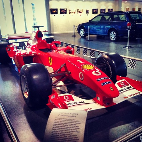 Ferrari replica at the Motor Museum.