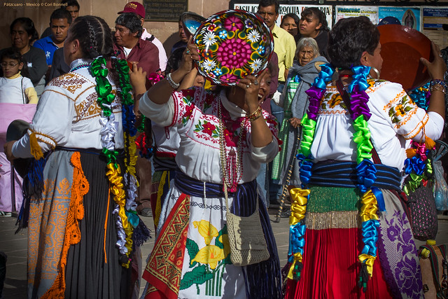Ritual Dancing in front of the Church of Our Virgin of Health - Patzcuaro