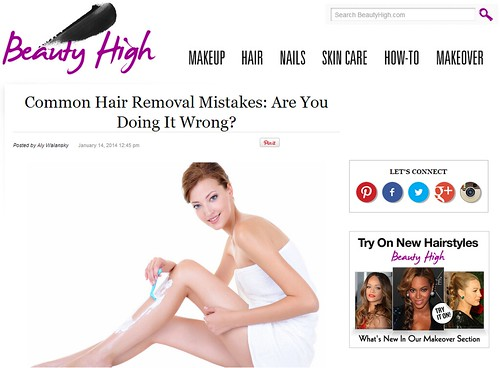 Dr. Joel Schlessinger discusses common hair removal mistakes with BeautyHigh.com