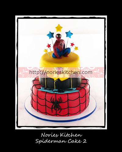 Norie's Kitchen - Spiderman Cake 2 by Norie's Kitchen
