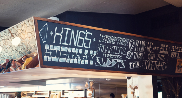 Kings Highway Diner Chalkboard Sign
