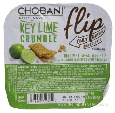 Chobani Greek Yogurt Flip Key Lime Crumble
