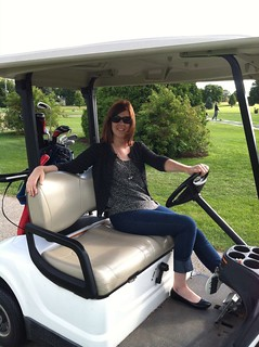 First time driving a golf cart, y'all!