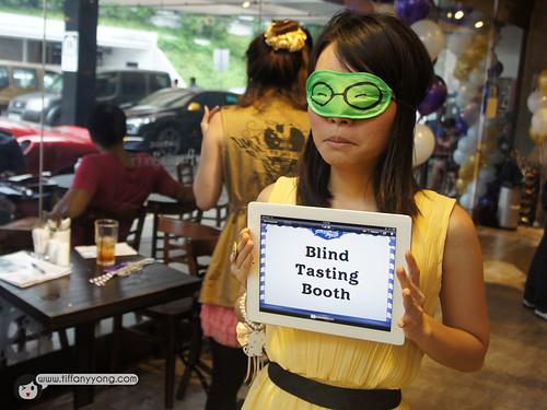 Cadbury blind tastingbooth