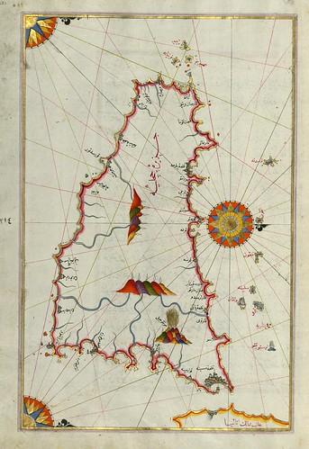 020- Isla de Sicilia-Fol 221a-W.658, LIBRO DE NAVEGACIÓN -The Digital Walters