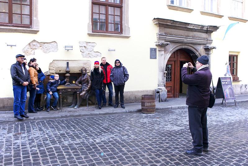 People on a street. Lviv, Ukraine