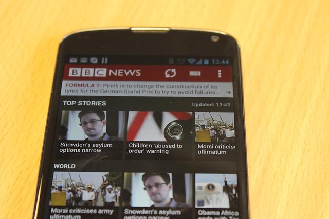 BBC News on a Nexus 4