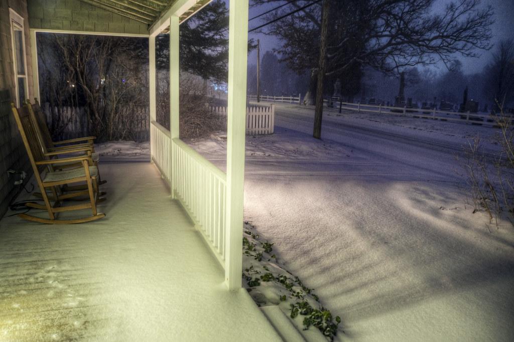 Snow Porch