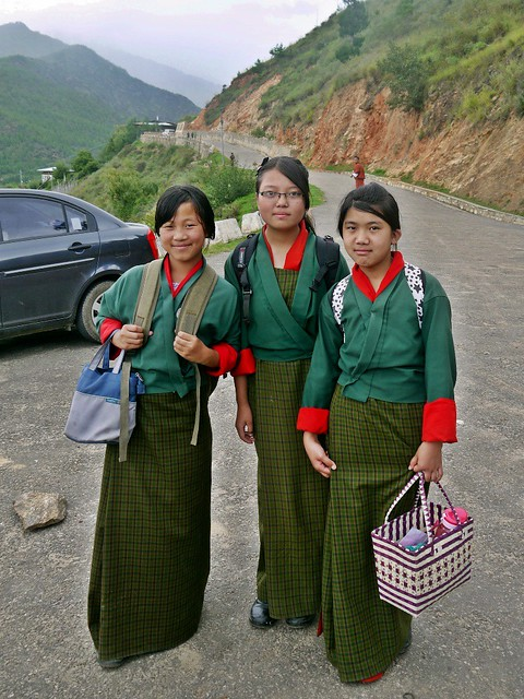 bhutan school girls