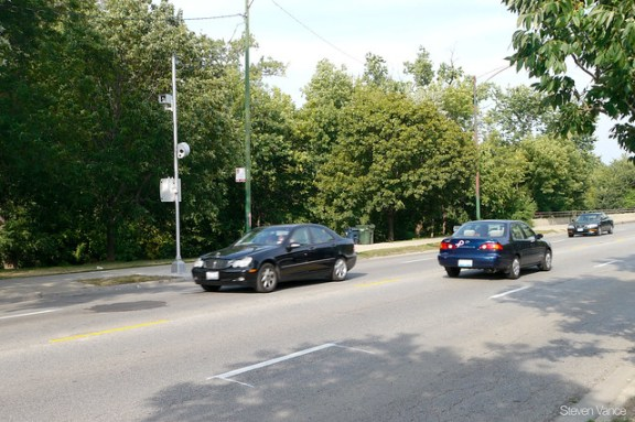 Speed camera near Gompers Park